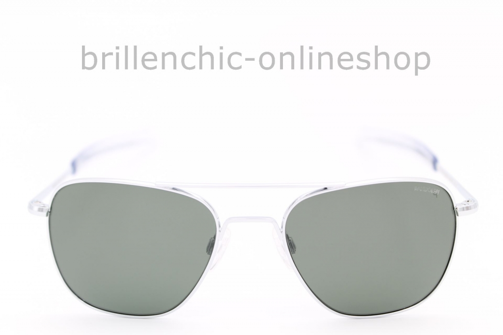 "RANDOLPH AVIATOR bright chrome/ AGX green POLARIZED ""NEU"""