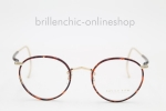 "SAVILE ROW Beaufort Bow Temples gold chestnut 18KT ""NEW"""